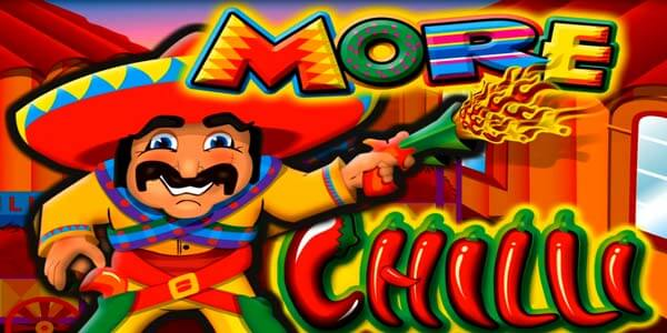 Logo image of the More Chilli slots machine game from Aristocrats