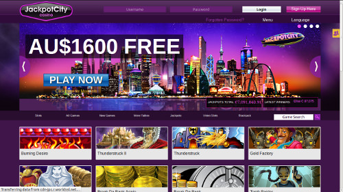 Screenshot image of Jackpot City online casino website