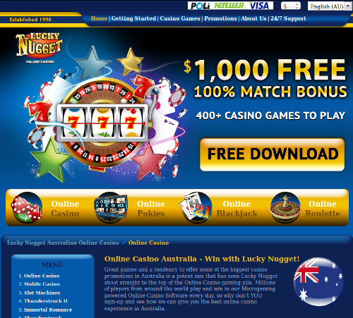 Screenshot image of Lucky Nugget online casino site