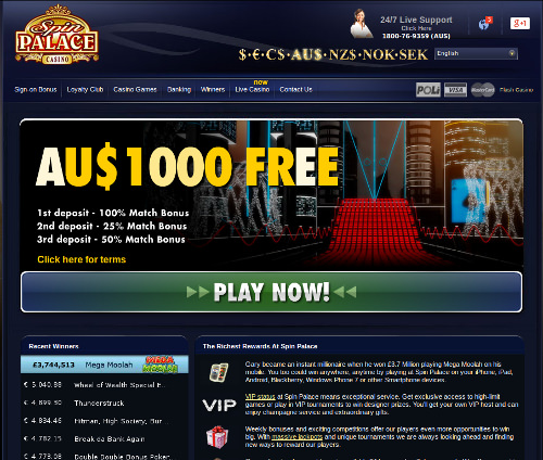 Spin palace mobile casino australia