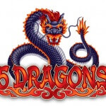 5 Dragons slot logo