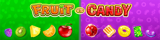 Fruit VS Candy slots header image