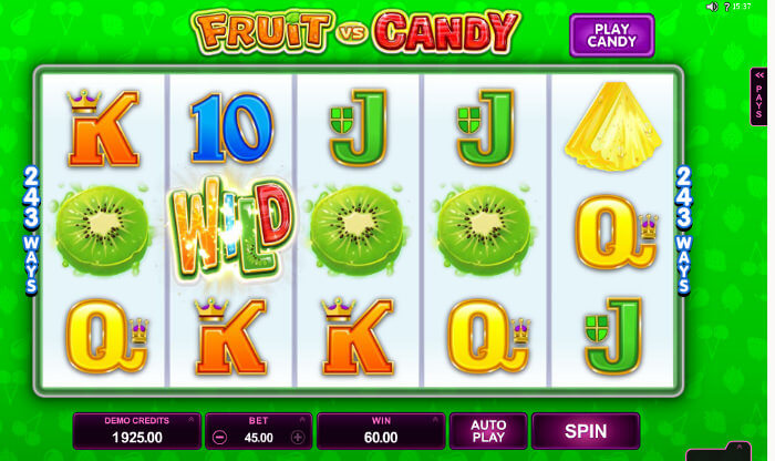 Fruit vs Candy Slotsrecension & gratis demospel online