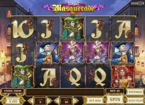 Screenshot image of the Royal Masquerade slot game