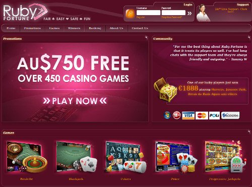 Ruby fortune mobile casino review 2020 up to $750 bonus